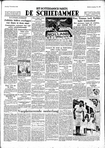 Rotterdamsch Parool / De Schiedammer 1948-12-07