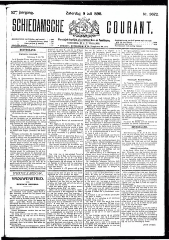 Schiedamsche Courant 1898-07-09