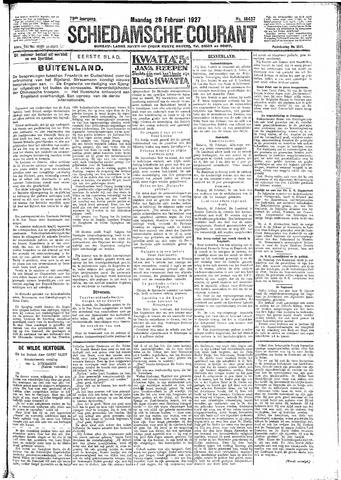 Schiedamsche Courant 1927-02-28