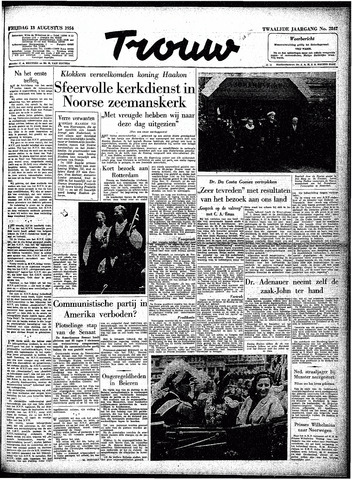 Trouw / De Rotterdammer 1954-08-13