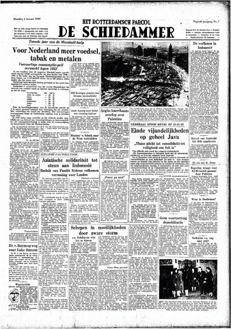 Rotterdamsch Parool / De Schiedammer 1949-01-03