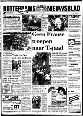 Rotterdamsch Nieuwsblad / Schiedamsche Courant / Rotterdams Dagblad / Waterweg / Algemeen Dagblad 1983-08-08
