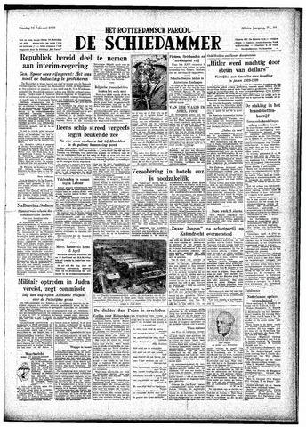 Rotterdamsch Parool / De Schiedammer 1948-02-10