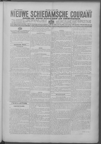 Nieuwe Schiedamsche Courant 1925-04-06