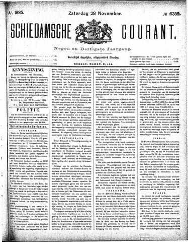 Schiedamsche Courant 1885-11-28