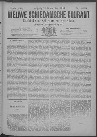 Nieuwe Schiedamsche Courant 1892-11-25