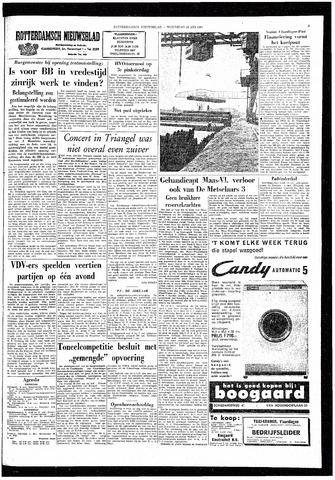 Rotterdamsch Nieuwsblad / Schiedamsche Courant / Rotterdams Dagblad / Waterweg / Algemeen Dagblad 1964-05-13