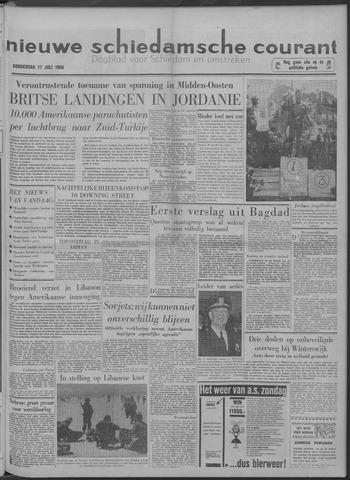 Nieuwe Schiedamsche Courant 1958-07-17