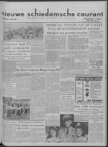 Nieuwe Schiedamsche Courant 1958-06-05