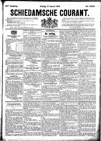 Schiedamsche Courant 1916-01-14