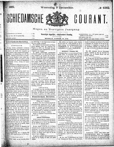 Schiedamsche Courant 1885-12-09
