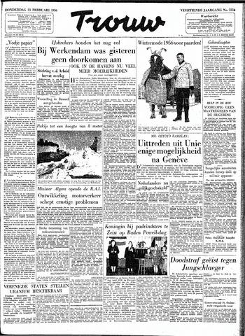 Trouw / De Rotterdammer 1956-02-23