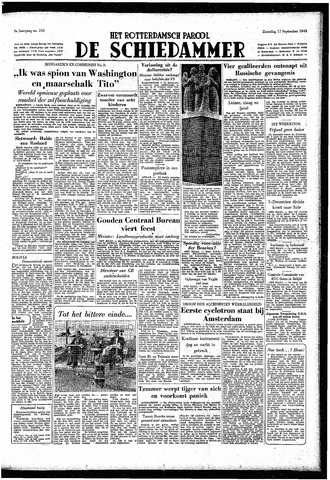 Rotterdamsch Parool / De Schiedammer 1949-09-17