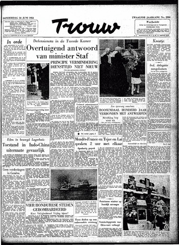 Trouw / De Rotterdammer 1954-06-24