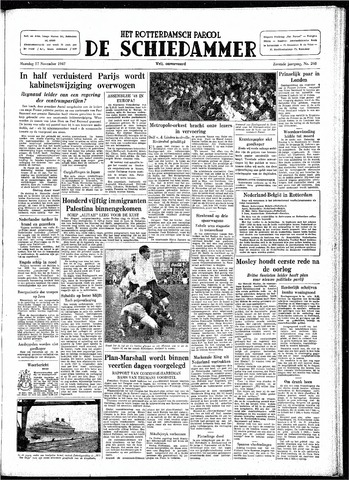 Rotterdamsch Parool / De Schiedammer 1947-11-17