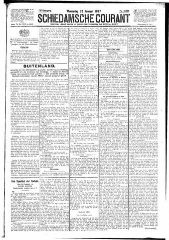 Schiedamsche Courant 1927-01-26