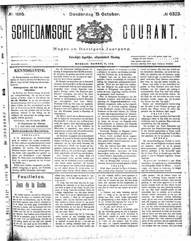 Schiedamsche Courant 1885-10-15