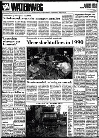 Rotterdamsch Nieuwsblad / Schiedamsche Courant / Rotterdams Dagblad / Waterweg / Algemeen Dagblad 1991-01-28