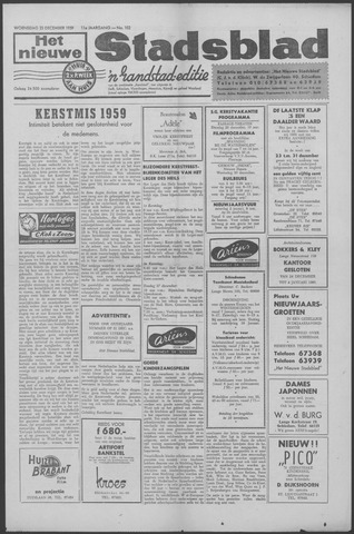 Het Nieuwe Stadsblad 1959-12-23