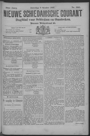 Nieuwe Schiedamsche Courant 1897-10-09