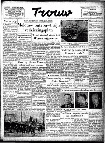 Trouw / De Rotterdammer 1954-02-05