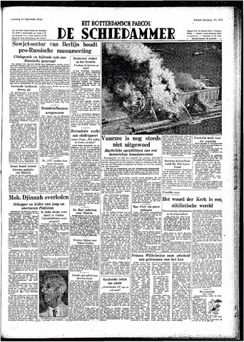 Rotterdamsch Parool / De Schiedammer 1948-09-13