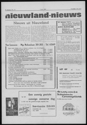 Nieuwland Nieuws 1964-06-04