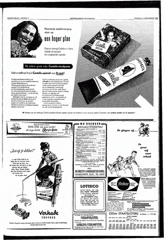 Rotterdamsch Nieuwsblad / Schiedamsche Courant / Rotterdams Dagblad / Waterweg / Algemeen Dagblad 1953-09-11