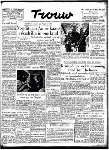 Trouw / De Rotterdammer 1954-02-27