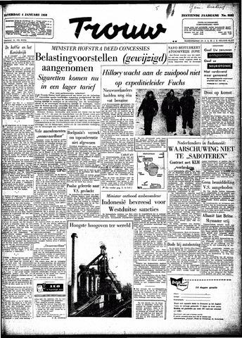 Trouw / De Rotterdammer 1958-01-04