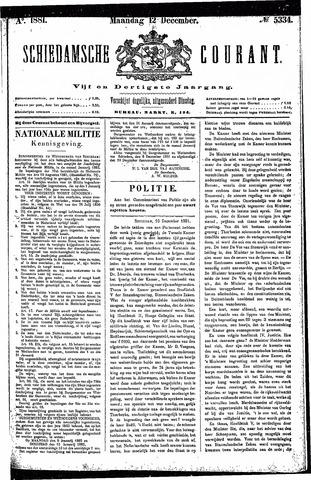 Schiedamsche Courant 1881-12-12