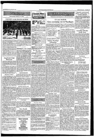 Rotterdamsch Nieuwsblad / Schiedamsche Courant / Rotterdams Dagblad / Waterweg / Algemeen Dagblad 1953-01-22
