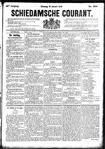 Schiedamsche Courant 1916-01-18