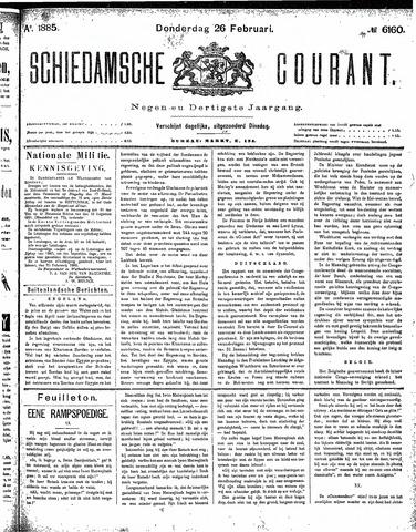 Schiedamsche Courant 1885-02-26