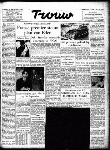 Trouw / De Rotterdammer 1954-09-17