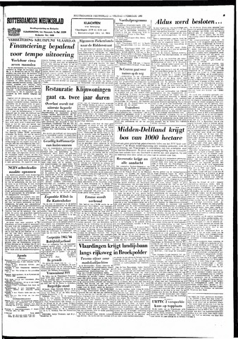 Rotterdamsch Nieuwsblad / Schiedamsche Courant / Rotterdams Dagblad / Waterweg / Algemeen Dagblad 1966-02-04