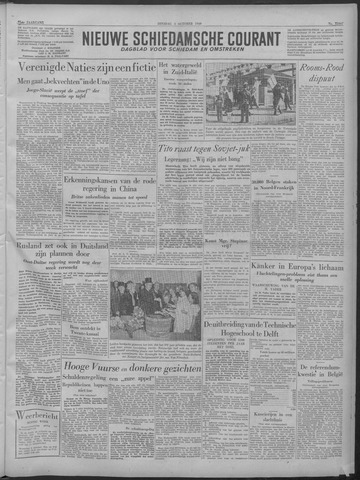 Nieuwe Schiedamsche Courant 1949-10-04