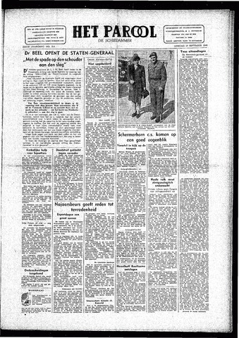 Rotterdamsch Parool / De Schiedammer 1946-09-17