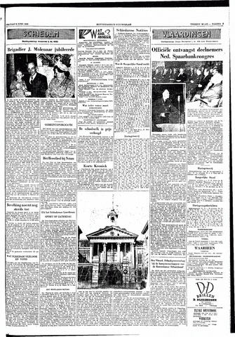 Rotterdamsch Nieuwsblad / Schiedamsche Courant / Rotterdams Dagblad / Waterweg / Algemeen Dagblad 1953-06-05