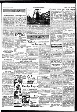 Rotterdamsch Nieuwsblad / Schiedamsche Courant / Rotterdams Dagblad / Waterweg / Algemeen Dagblad 1953-03-11