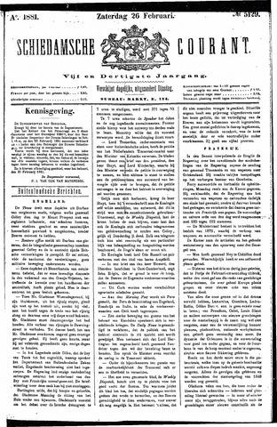 Schiedamsche Courant 1881-02-26