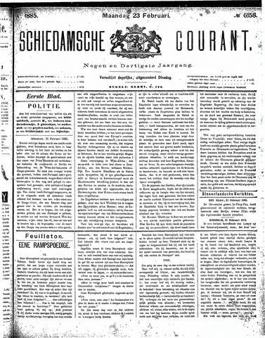 Schiedamsche Courant 1885-02-23