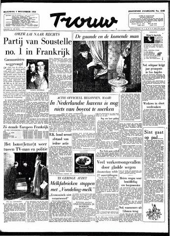 Trouw / De Rotterdammer 1958-12-01
