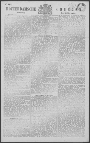 Rotterdamse Courant 1851-11-22