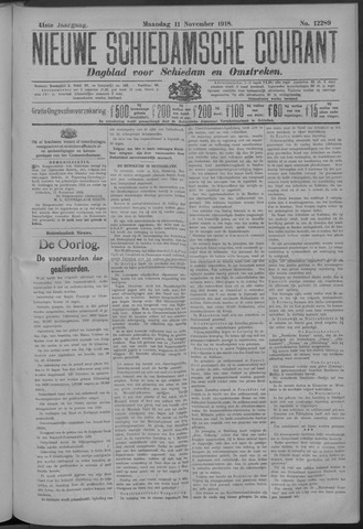 Nieuwe Schiedamsche Courant 1918-11-11