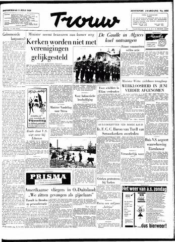 Trouw / De Rotterdammer 1958-07-03