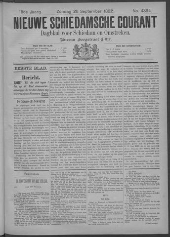 Nieuwe Schiedamsche Courant 1892-09-25