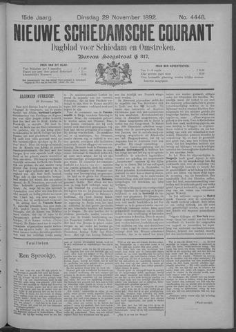 Nieuwe Schiedamsche Courant 1892-11-29