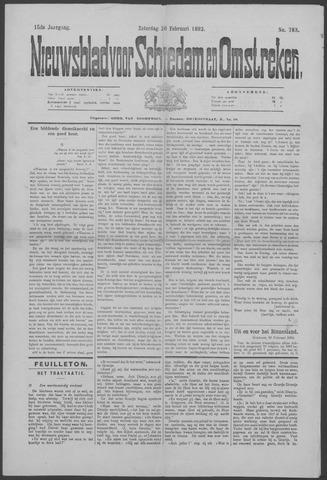 Nieuwsblad voor Schiedam en Omstreken 1892-02-20