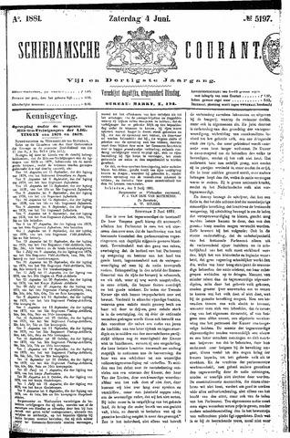Schiedamsche Courant 1881-06-04